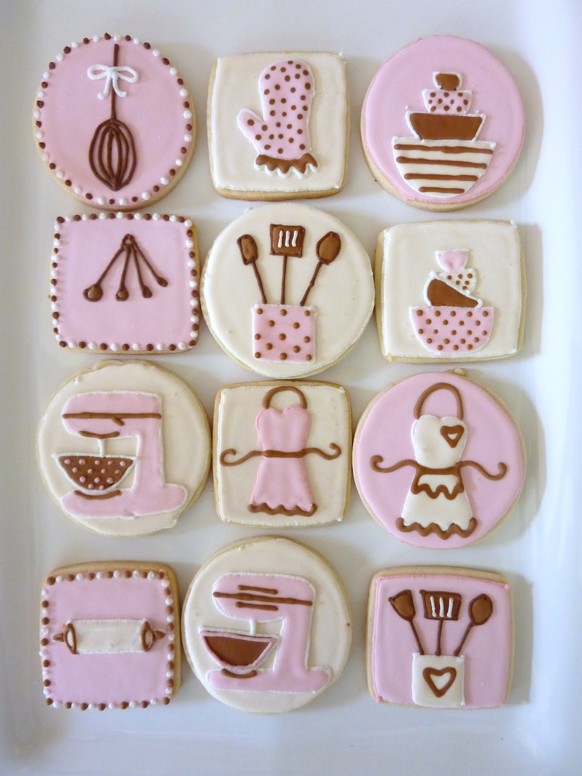 Kitchen Themed Bridal Shower Tuscan Canisters The Happy Caker Cookies