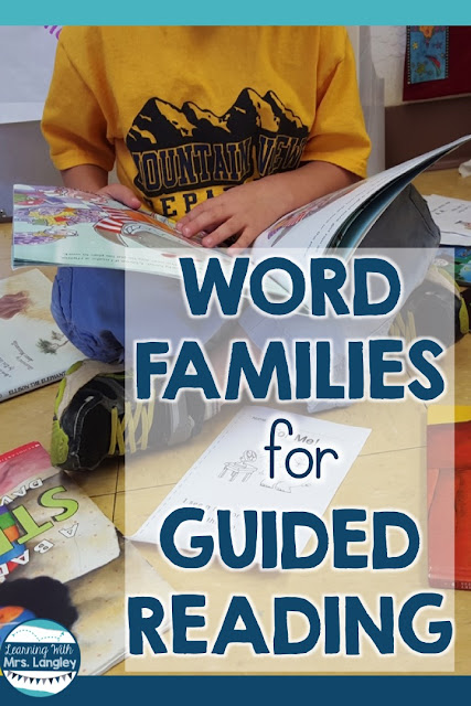 Guided Reading groups and lesson plans can be an organizational mess without the right strategies for your kindergarten and 1st grade students. Knowing what to plan and keep in your binder will give you the tools to succeed. It's not always about leveled readers, sometimes we need to take a step back and focus on sounds and word families. This freebie word family game will help get you started!