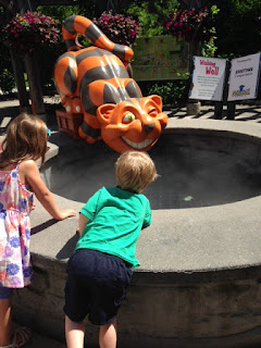 The Cheshire Cat Wishing Well, Storybook Gardens