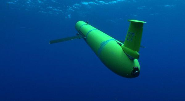 Ilustrasi drone bawah air Rusia
