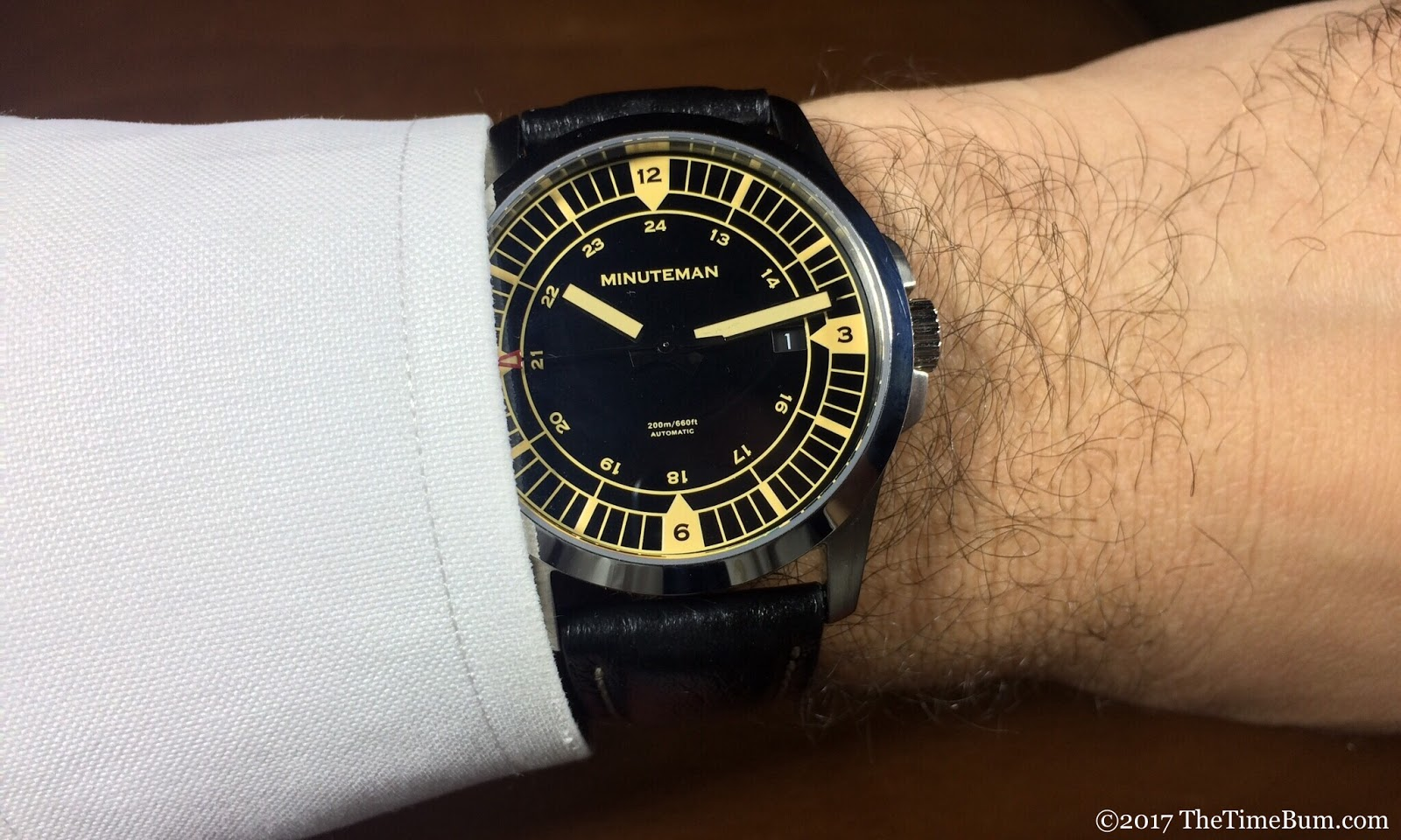 Minuteman Darby brushed wrist shot