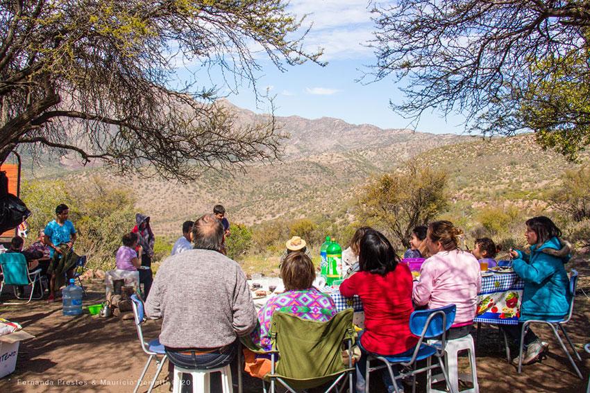 dia em família no Cerro de Los Andes