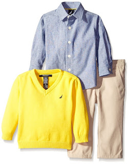 Nautica Baby 3-Piece Woven Sweater Set $15-$33 (reg $41)