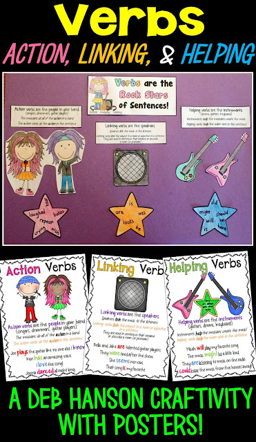 Help your students understand the difference between action verbs, linking verbs, and helping verbs with this Types of Verbs craftivity. Three posters and a worksheet are also included!