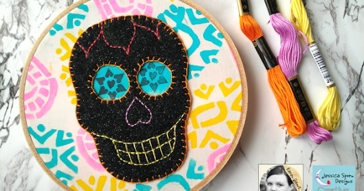 How to Create Dias de Los Muertos Hanging Artwork - Creative Team Thursday with Karen Gaunt