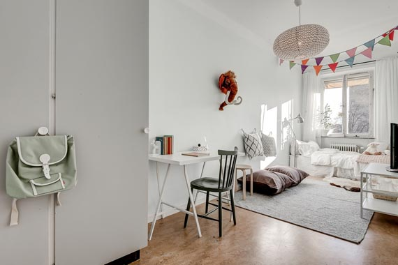kids rooms in scandinavian style