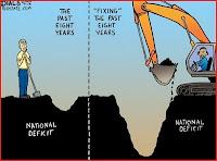 cartoon bush tax breaks