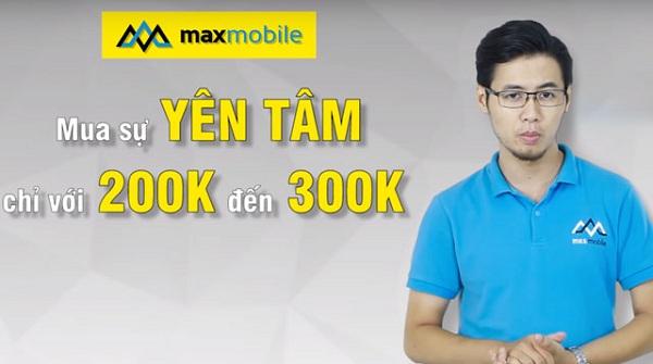 bảo hành vàng tại MaxMobile chỉ với 200K đến 300K