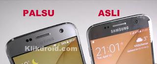 Logo Samsung S7 Asli dan Palsu
