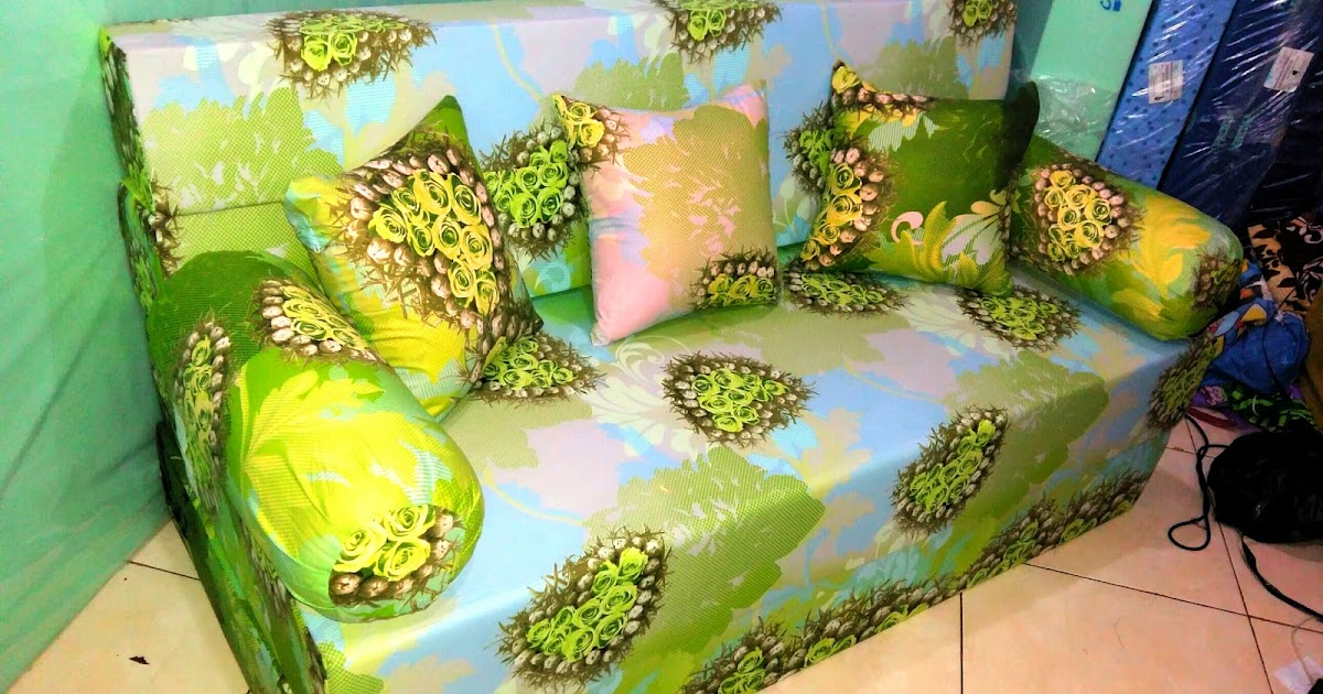 Sofa Bed Inoac 3 In 1 Armrest Tray India Motif Anggur Ijo   Agen Kasur Busa ...