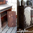The Angel Wing Cubby, burning, painting, texture, staining, glazing and more