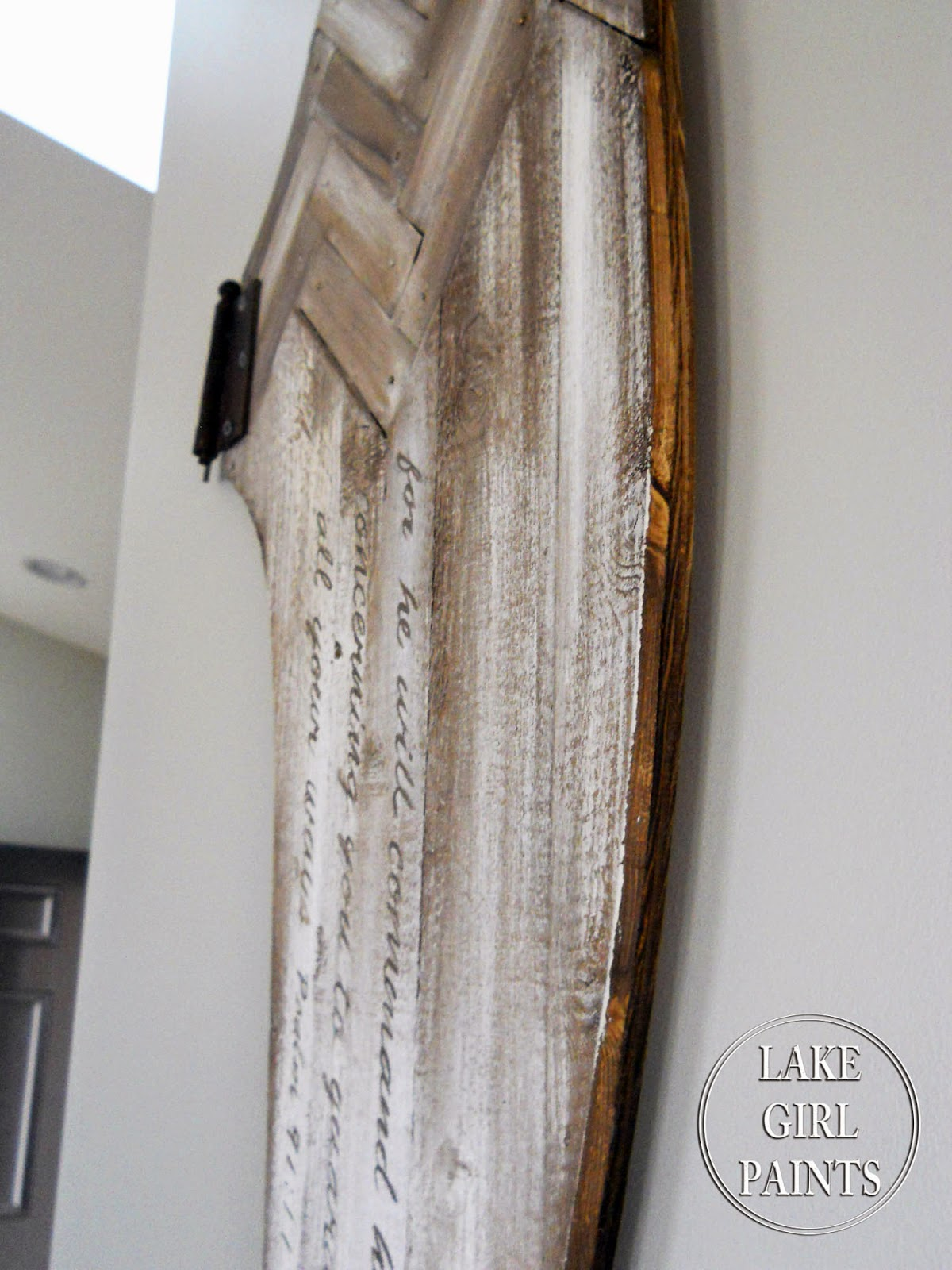 Lake Girl Paints Rustic Wooden Angel Wing