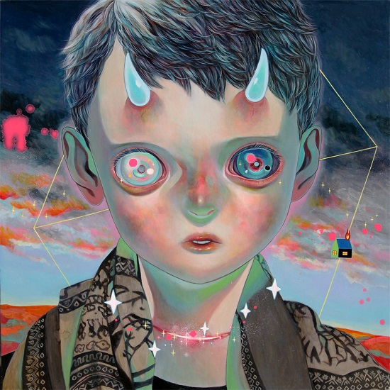 "obras de arte, pintura, pop art, cool pictures, imagenes chidas, tristes | ""Whereabouts of God #28"" by Hikari Shimoda"
