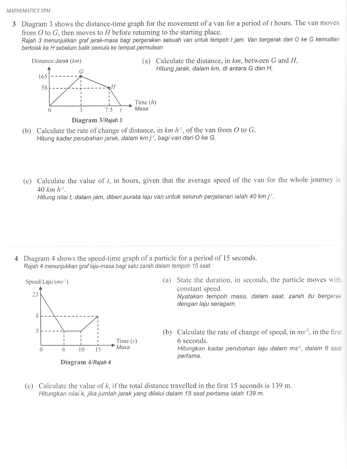 Dess Maths Form 5 Topic 6 Gra Nt And Area Under The Graph