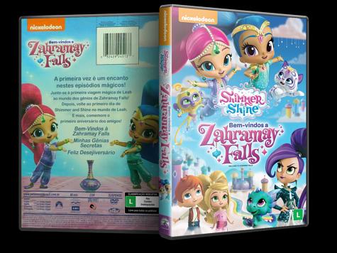 Capa DVD Shimmer & Shine - Bem-vindos à Zahramay Falls