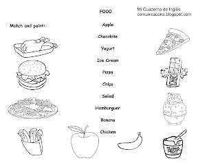 Mi cuaderno de Inglés: WORKSHEETS FOOD