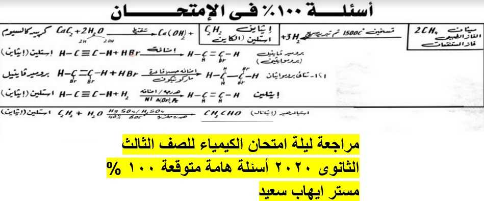 مراجعة الكيمياء للصف الثالث الثانوى 2020 أ. ايهاب سعيد - موقع مدرستى