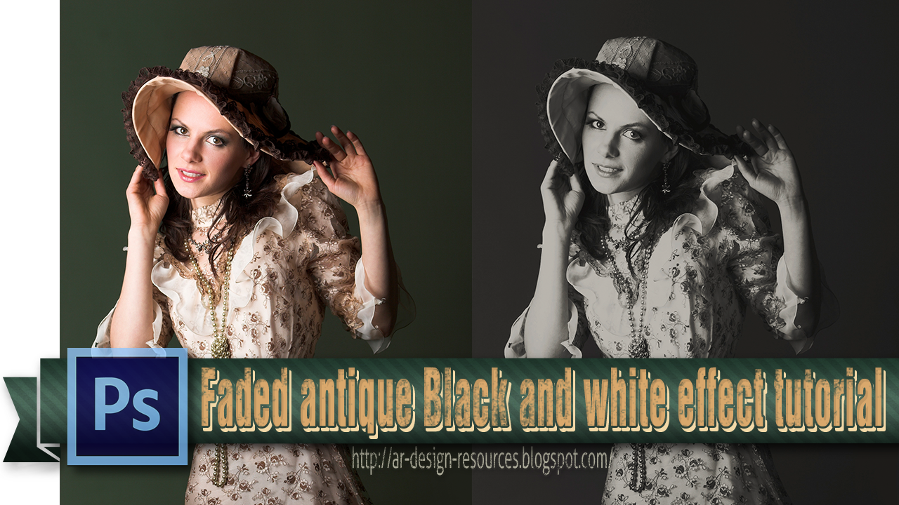 Great Antique Black and white effect | Adobe Photoshop Tutorial