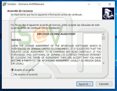 Acuerdo licencia Zemana