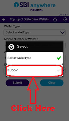 how to add money in sbi buddy