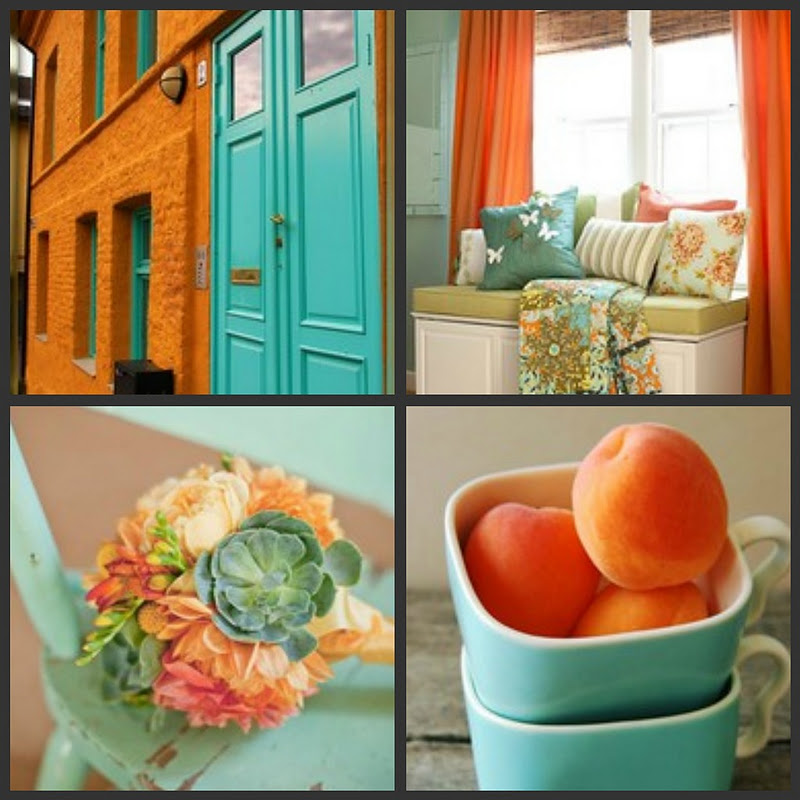 Gigi's Thimble: Orange and Turquoise