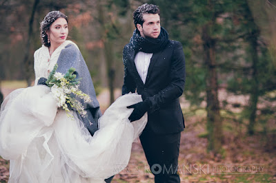 Jesienny plener ślubny.