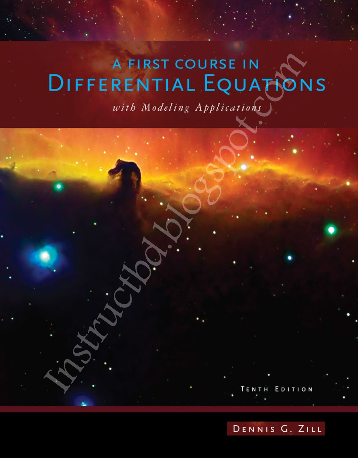 book a first course in differential equations with modeling rh instructbd  blogspot com solution manual dennis zill differential equations solution  manual ...
