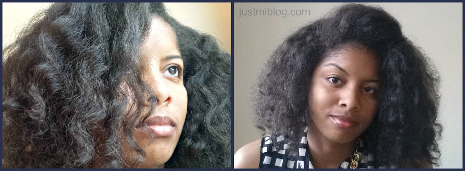 Braid out on stretched natural hair
