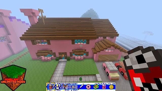 Los Simpson Springfield Mapa Minecraft casa