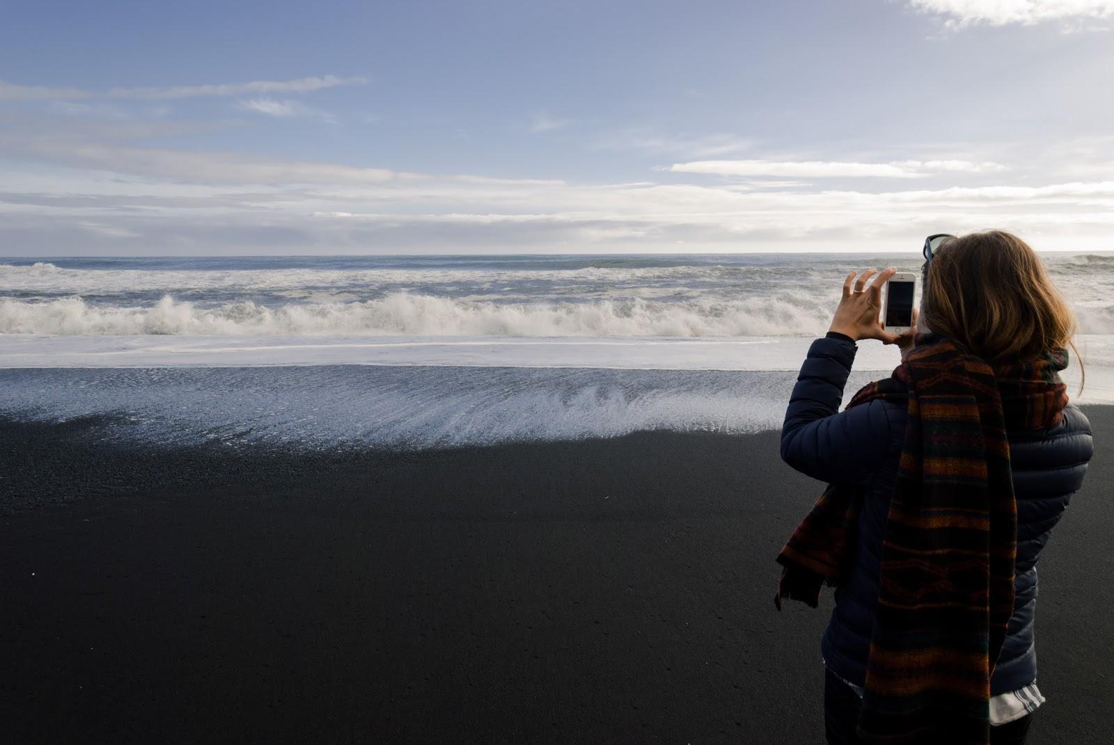 Islandia, Vik, czarna plaża, plaża