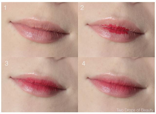 gradient lips tutorial, градиент на губах, азиатский макияж губ