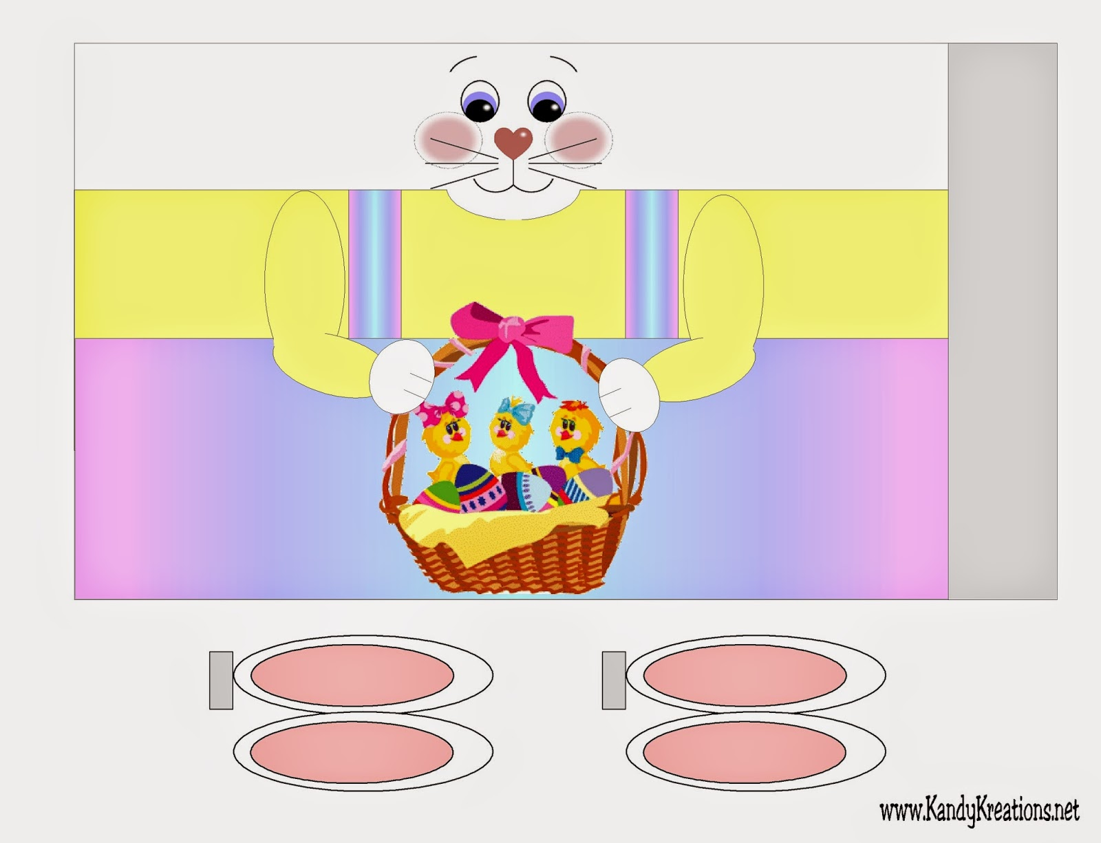 Easter Bunny Candy Bank Printable