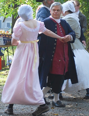 Colonial dancing at Brandywine Battlefield