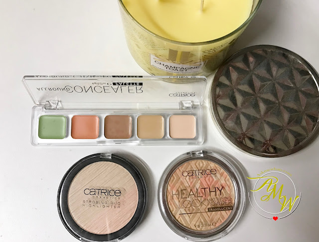 a photo of Catrice All Around Concealer Palette, Healthy Look Mattifying Powder Translucent and Strobing Duo Highlighter