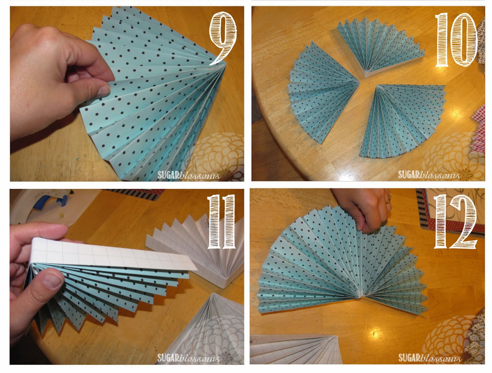 Sweet Sugar Blossoms Diy Paper Fans