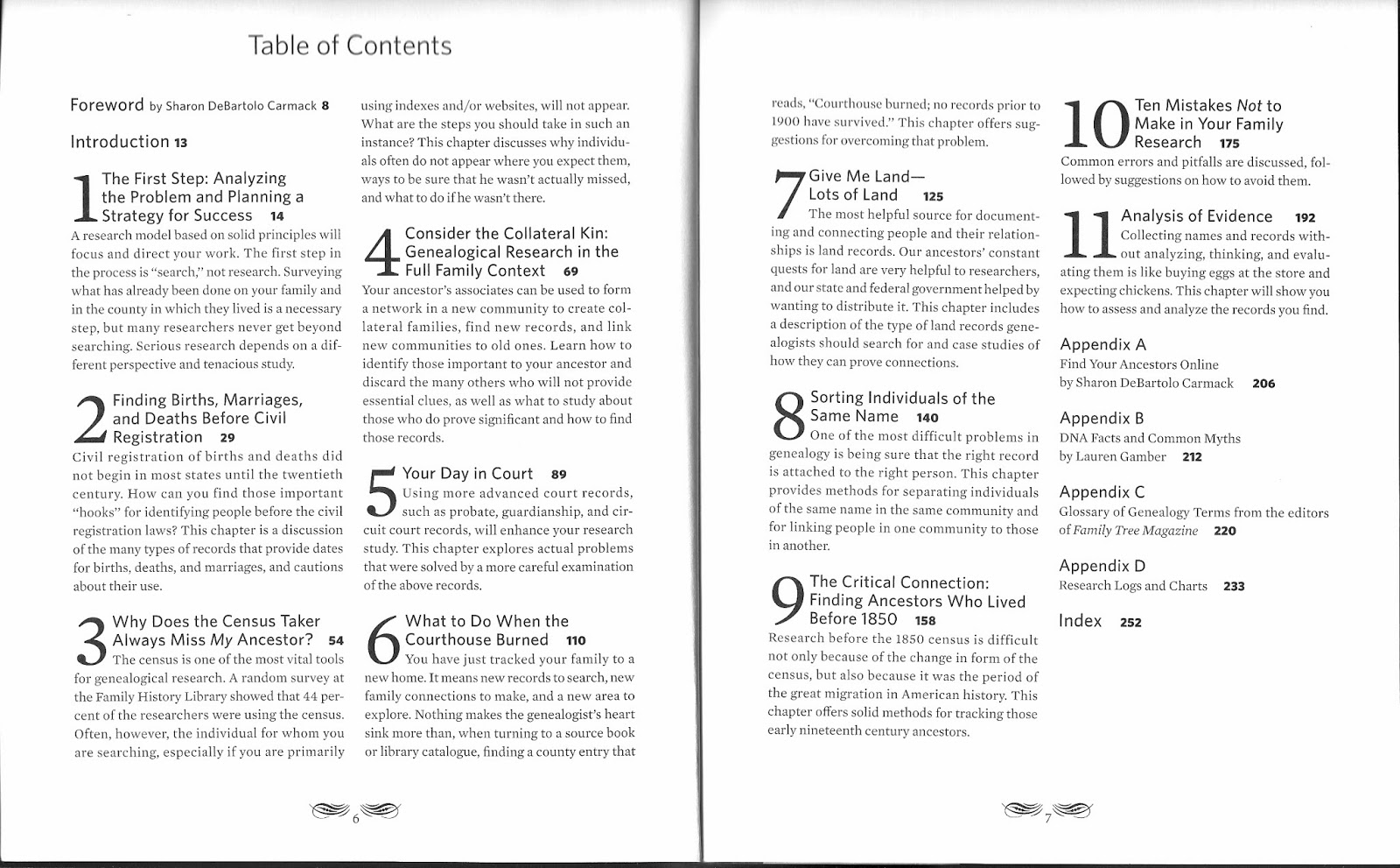 Table of Contents. Click image to enlarge.