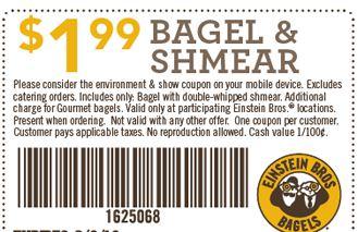 einstein bagels promo code