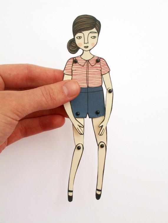 origami paper doll instructions