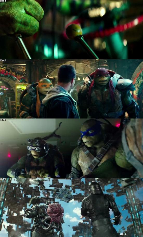 Teenage Mutant Ninja Turtles Out of The Shadows 2016 BluRay 720p 480p Dual Audio Hindi English Full Movie Download