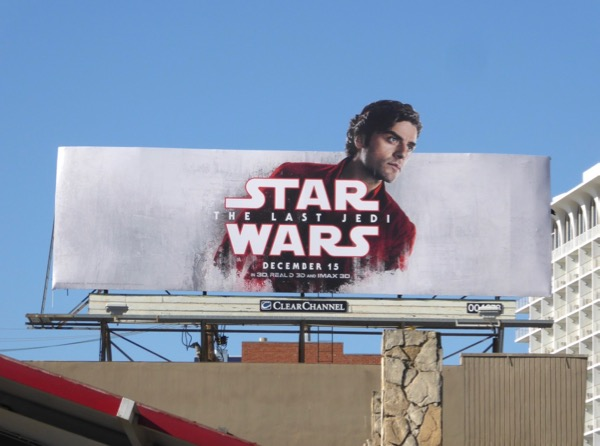Star Wars Last Jedi Poe Dameron billboard