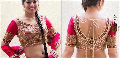 Fancy-saree-blouse-back-neck-designs-pattern-for-women-9