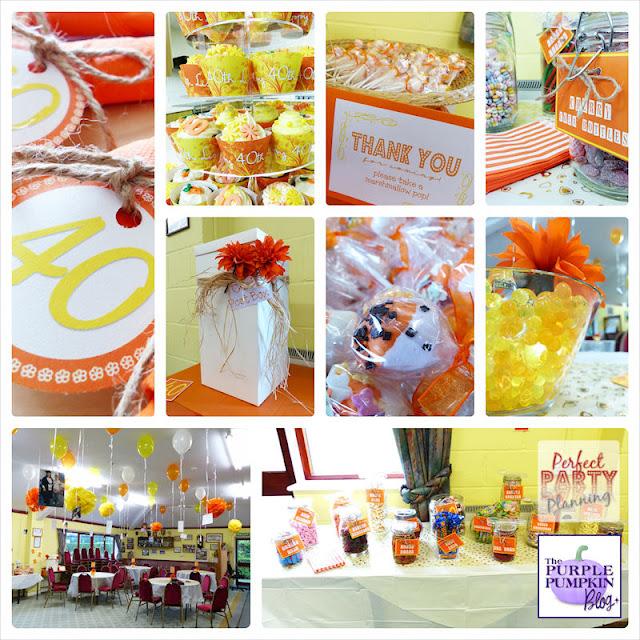 #Orange & #Yellow 40th #Birthday #Party Ideas!