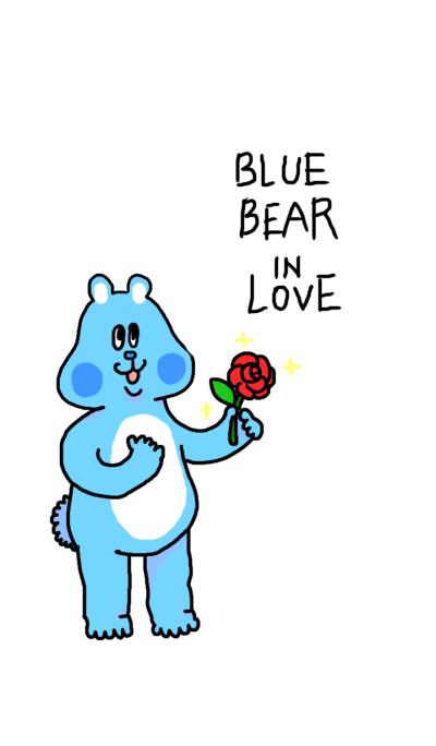 Blue Bear in Love