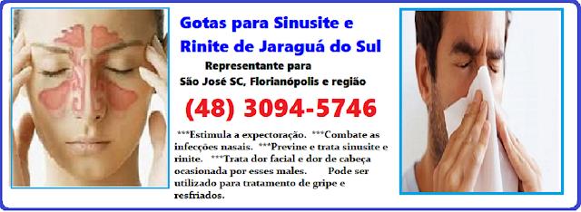 Sinusite e Rinite Tratamento Natural com as Gotinhas Medicinais em São José SC - (48) 3094-5746