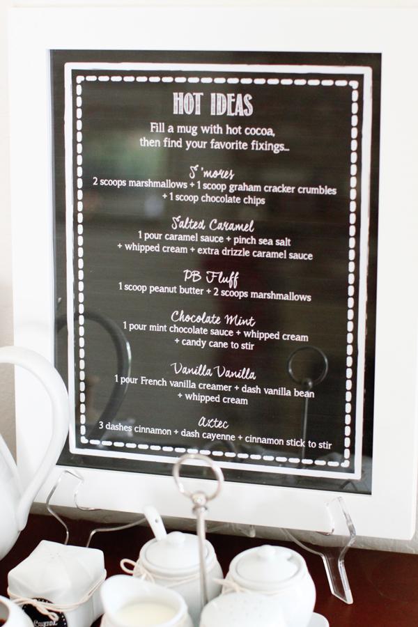 Easy recipe ideas for a hot cocoa bar