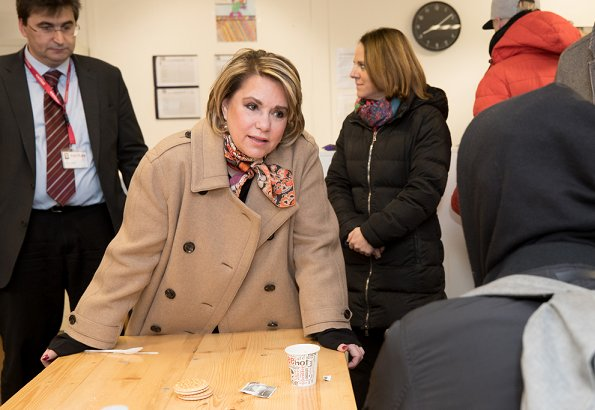 Grand Duke Henri and Grand Duchess Maria Teresa visited Wanteraktioun in Findel