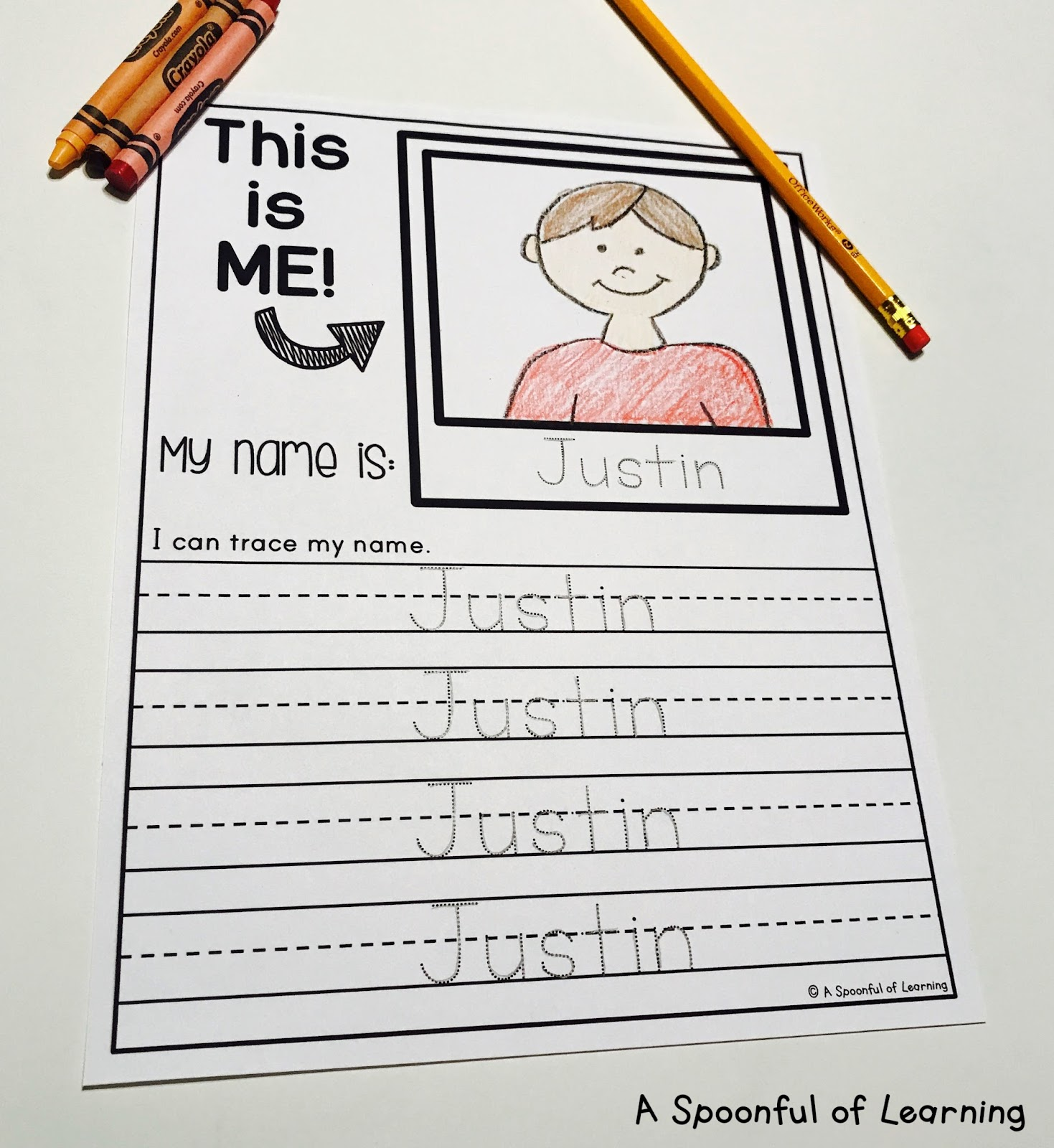 A Spoonful Of Learning Name Activities