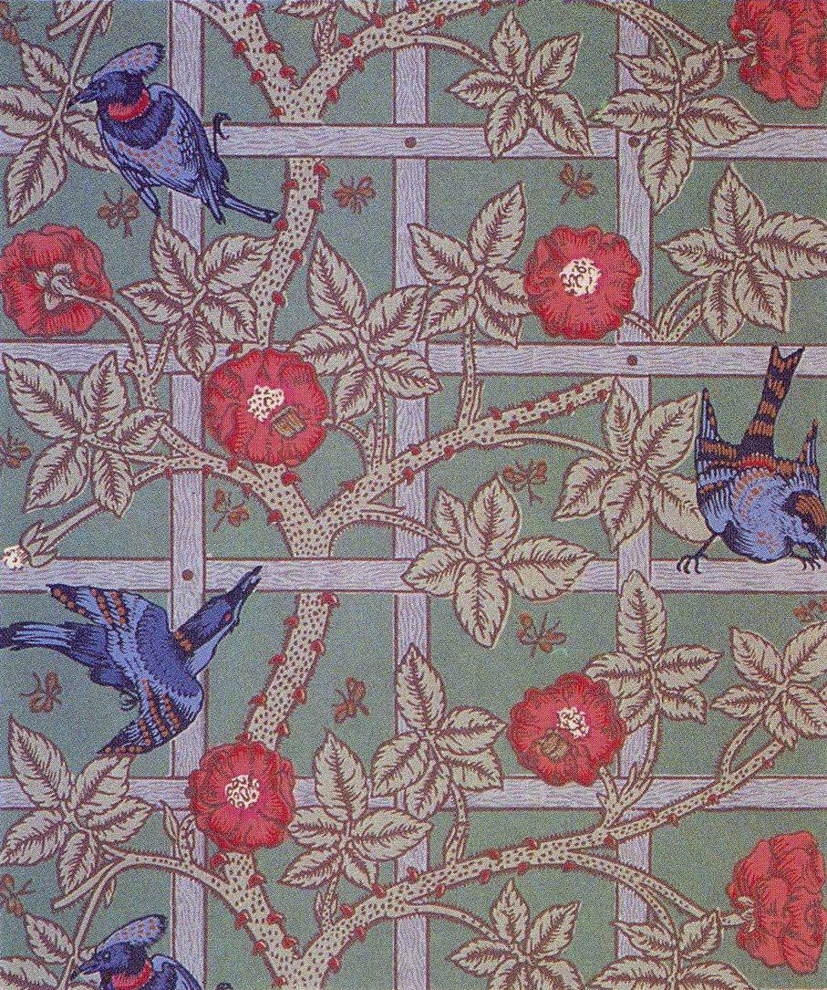 William Morris Trellis: JH Illustration: William Morris