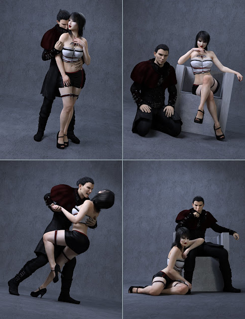 Bloody Love Poses and Expressions for Genesis 3 Female and Male