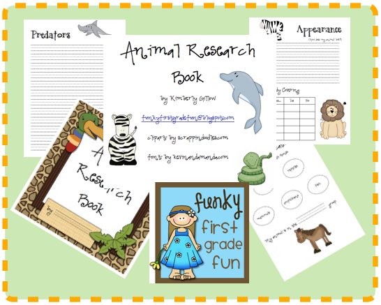 Our Teacher Asked What My Favorite Animal Was: Funky First Grade Fun: Animal Research